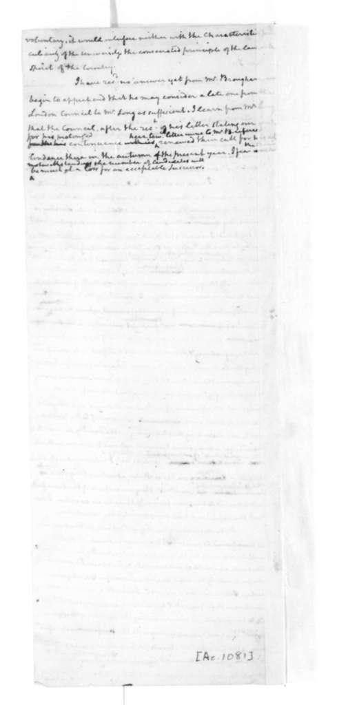 James Madison to Chapman Johnson, May 1, 1828.