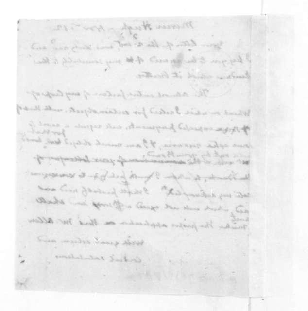 James Madison to Hugh Mercer, November 12, 1828.