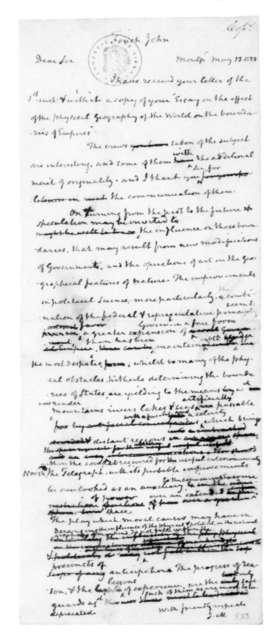 James Madison to John Finch, May 13, 1828.