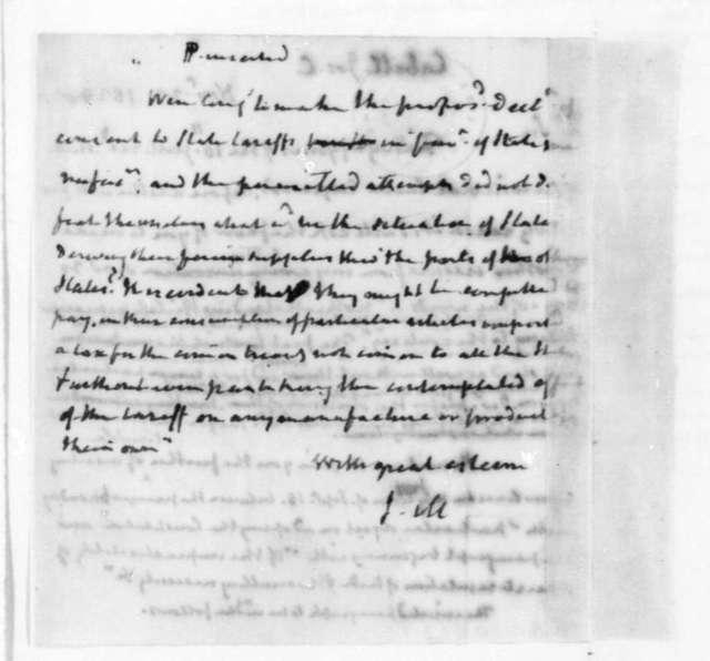 James Madison to Joseph C. Cabell, November 22, 1828.