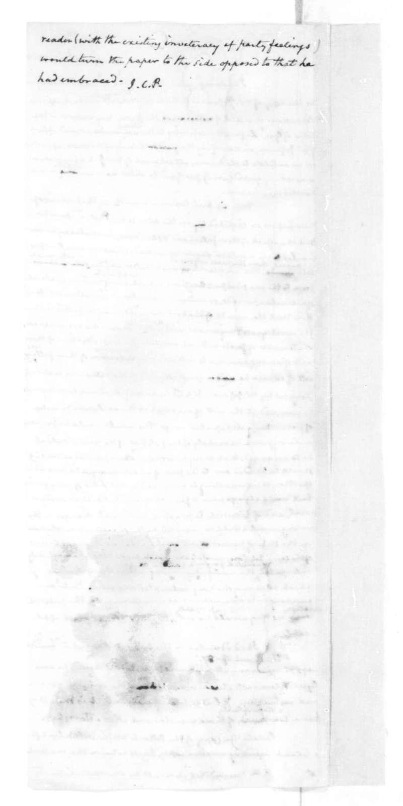 James Madison to Nicholas P. Trist, April 23, 1828.