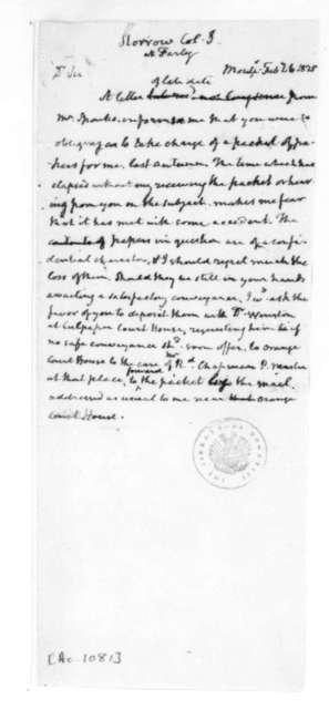 James Madison to Samuel A. Storrow, February 6, 1828.