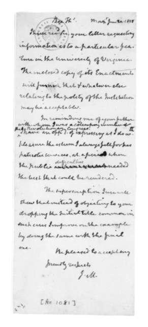 James Madison to Thomas Bee, June 20, 1828.