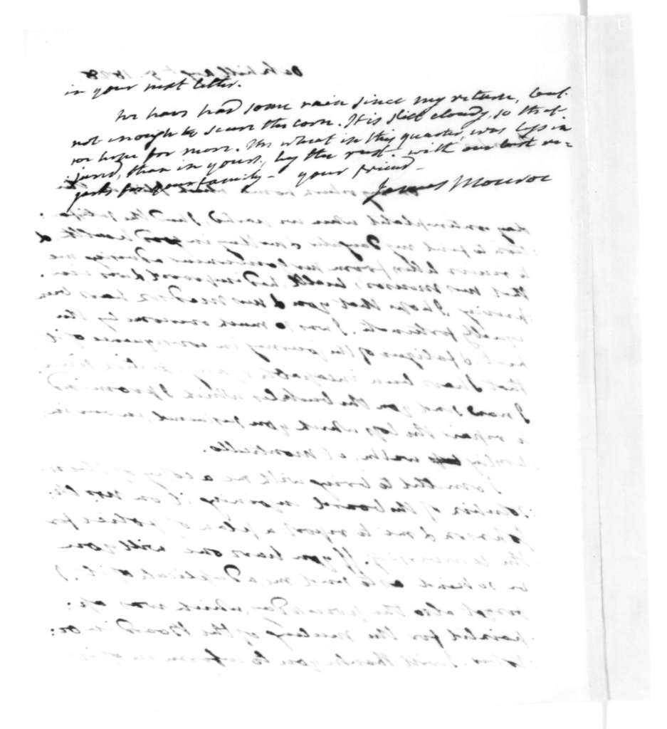 James Monroe to James Madison, August 5, 1828.