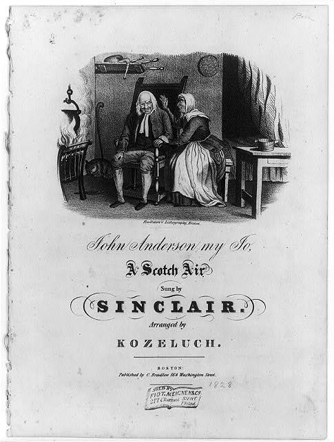 John Anderson, my Jo, a Scotch Air, sung by Sinclair, arranged by Kozeluch