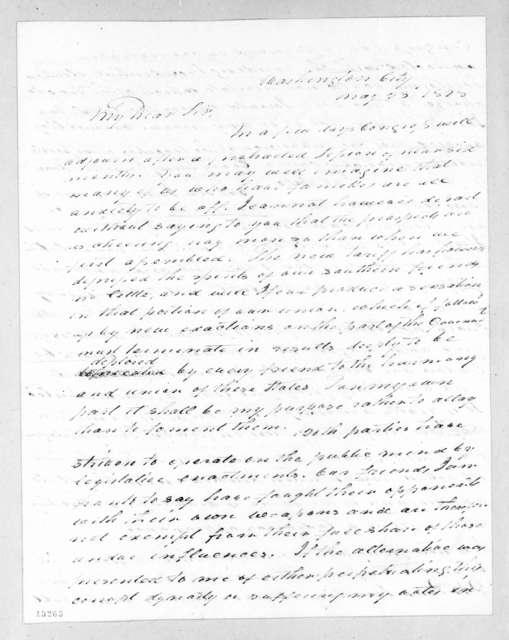 John Branch to Andrew Jackson, May 23, 1828