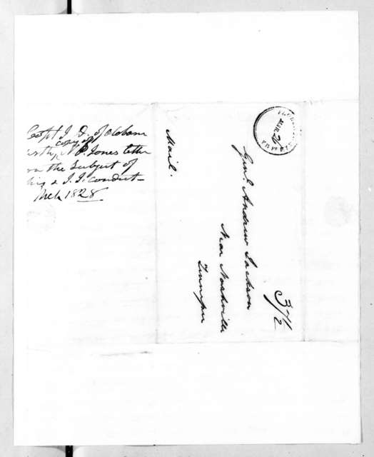 John Donelson, Jr. to Andrew Jackson, March 22, 1828