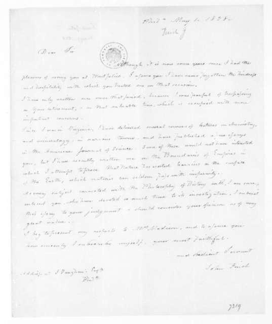 John Finch to James Madison, May 1, 1828.