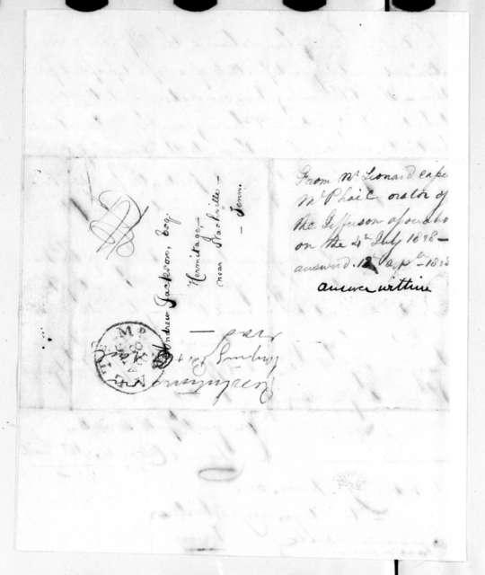 Leonard Cassell McPhail to Andrew Jackson, August 28, 1828