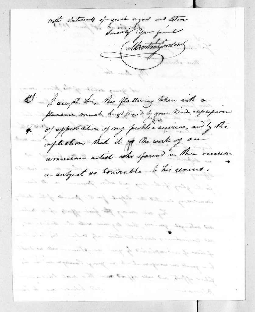Martin Gordon to Andrew Jackson, June 20, 1828