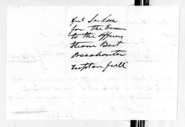 Nashville Inn to Andrew Jackson, January 29, 1828