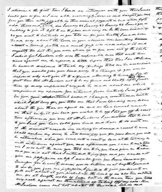 Nelson P. Jones to Andrew Jackson Donelson, February 15, 1828