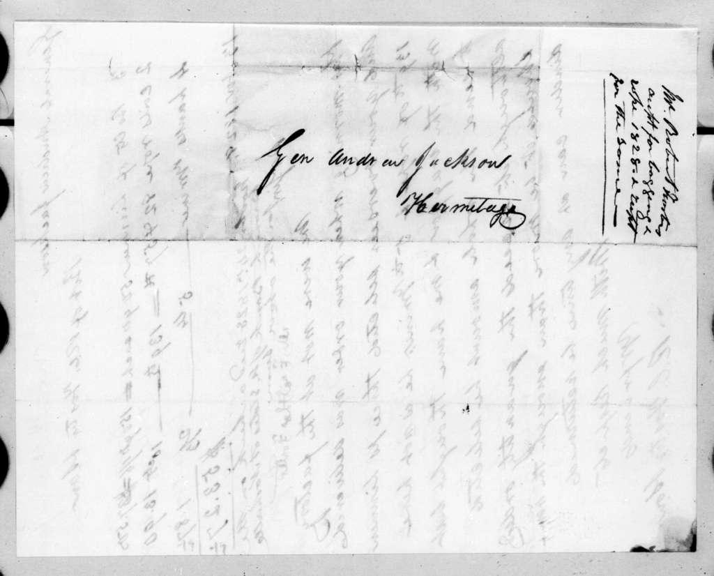 Robert C. Foster & Sons to Andrew Jackson, November 24, 1828