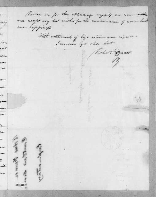 Robert Fenner to Andrew Jackson, December 18, 1828