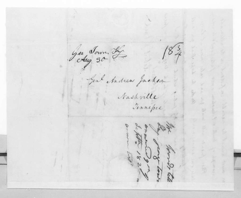 R\obert J. Ward to Andrew Jackson, August 29, 1828