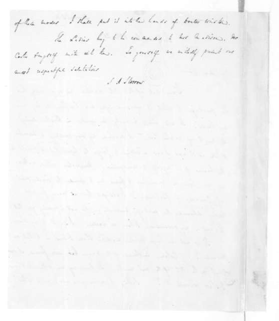 Samuel A Storrow to James Madison, February 18, 1828.