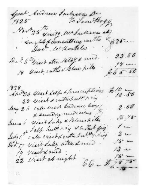Samuel Hogg to Andrew Jackson, December 22, 1828