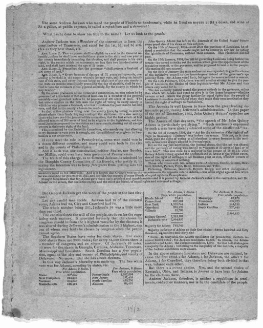 The Governor of Florida [Regarding the administration of General Andrew Jackson in Florida]. [Florida? 1828?].