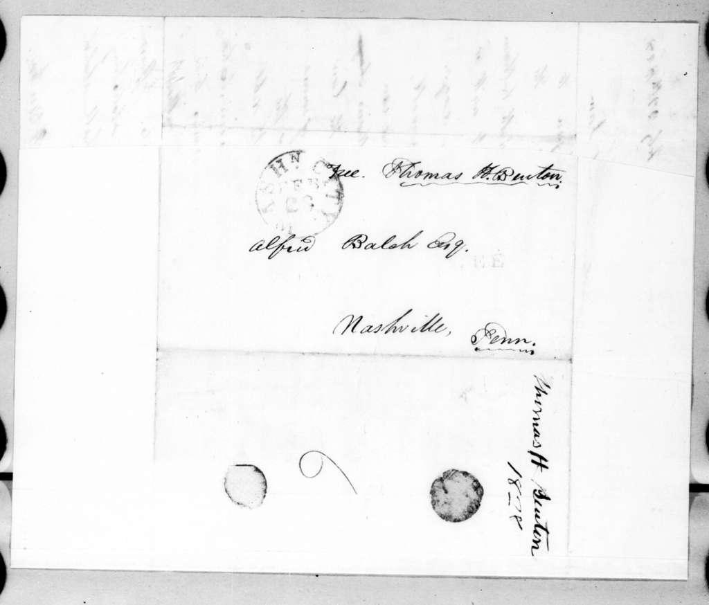 Thomas Hart Benton to Alfred Balch, February 28, 1828