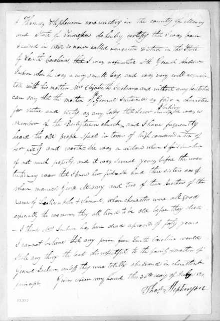 Thomas Stephenson, July 30, 1828