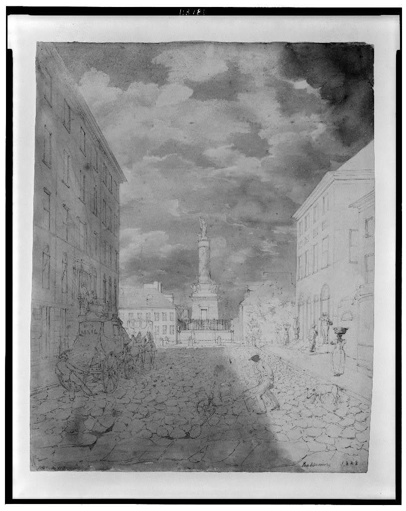 [View of the Battle Monument, Baltimore]