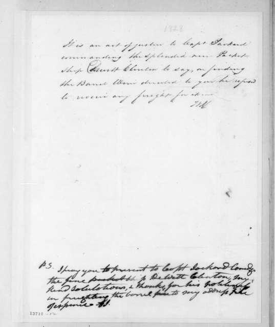 [W. Swift] to Andrew Jackson