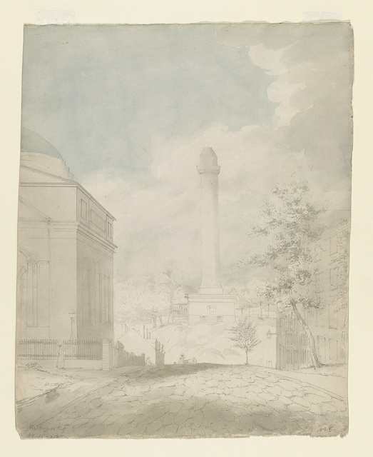 [Washington Monument looking north on Washington Place in Baltimore, Maryland]