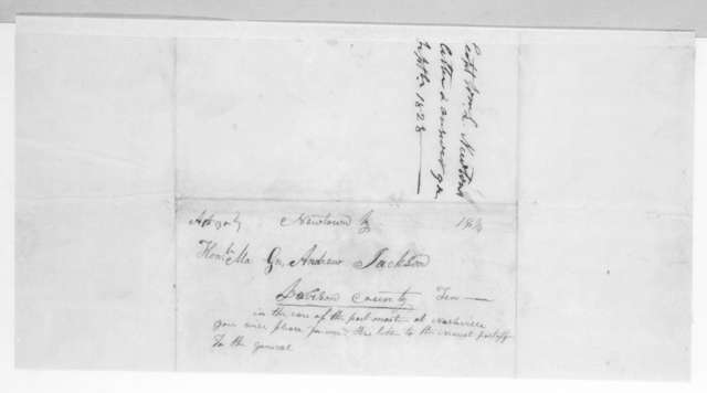 William L. Newton to Andrew Jackson, August 30, 1828