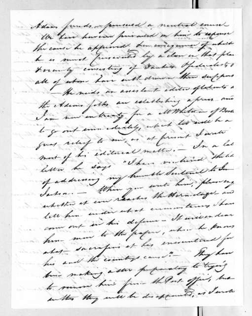 William Roberdeau Swift to Andrew Jackson, July 26, 1828