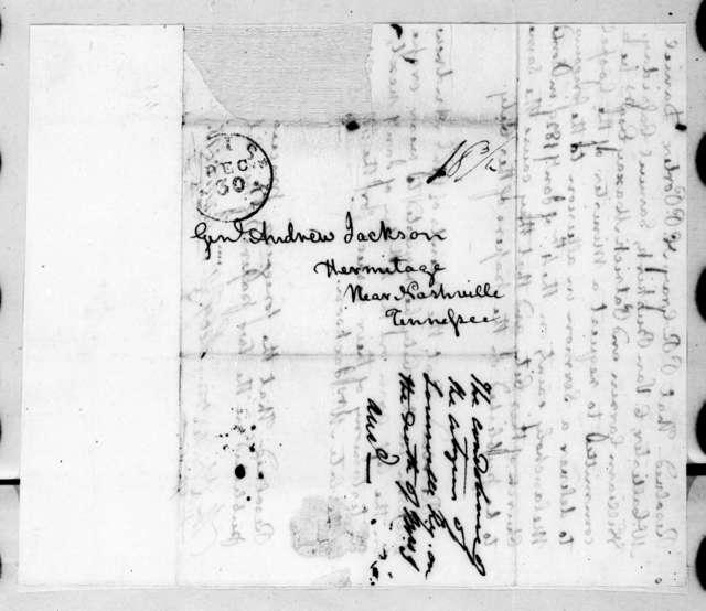 Worden Pope et al. to Andrew Jackson, December 29, 1828
