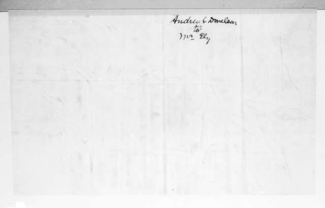 Andrew Jackson Donelson to Ezra Stiles Ely