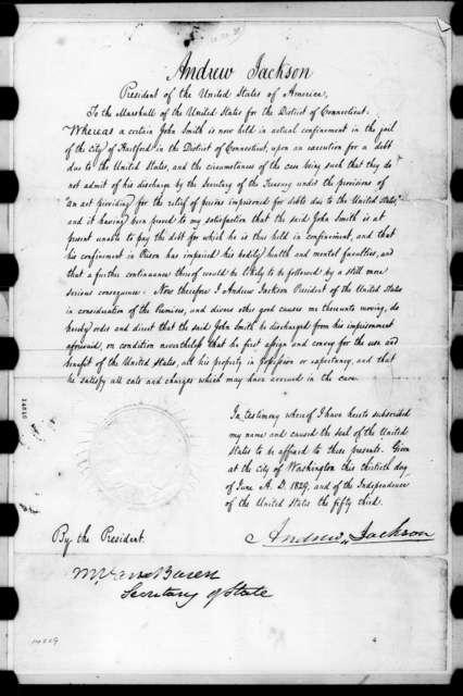 Andrew Jackson, June 30, 1829