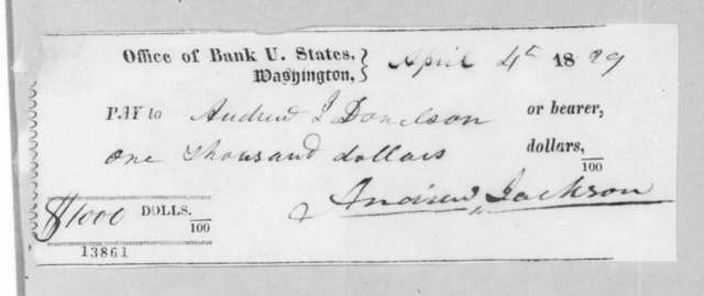 Andrew Jackson to Andrew Jackson Donelson, April 4, 1829