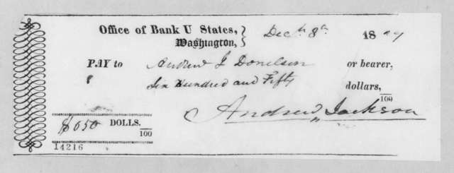 Andrew Jackson to Andrew Jackson Donelson, December 8, 1829