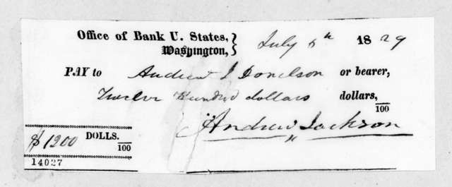 Andrew Jackson to Andrew Jackson Donelson, July 6, 1829
