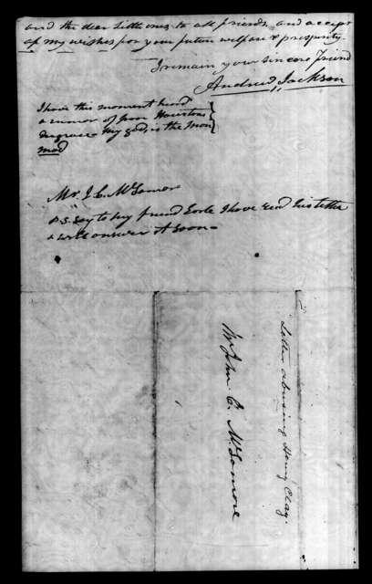 Andrew Jackson to John Christmas McLemore