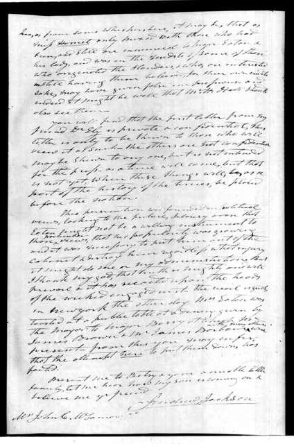 Andrew Jackson to John Christmas McLemore, November 24, 1829