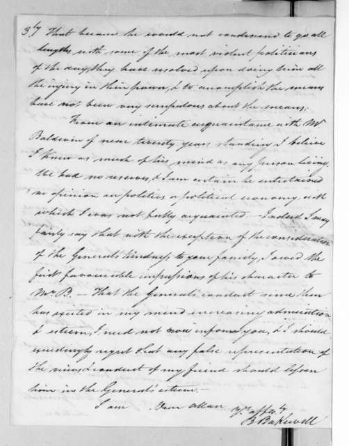Benjamin Bakewell to Allan Ditchfield Campbell, February 25, 1829