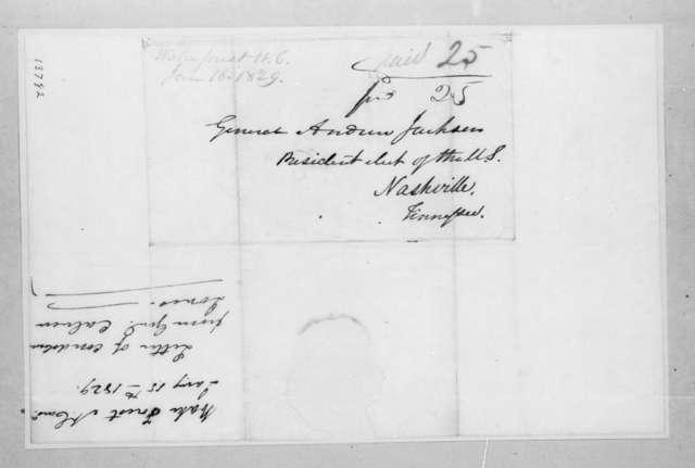 Calvin Jones to Andrew Jackson, January 15, 1829