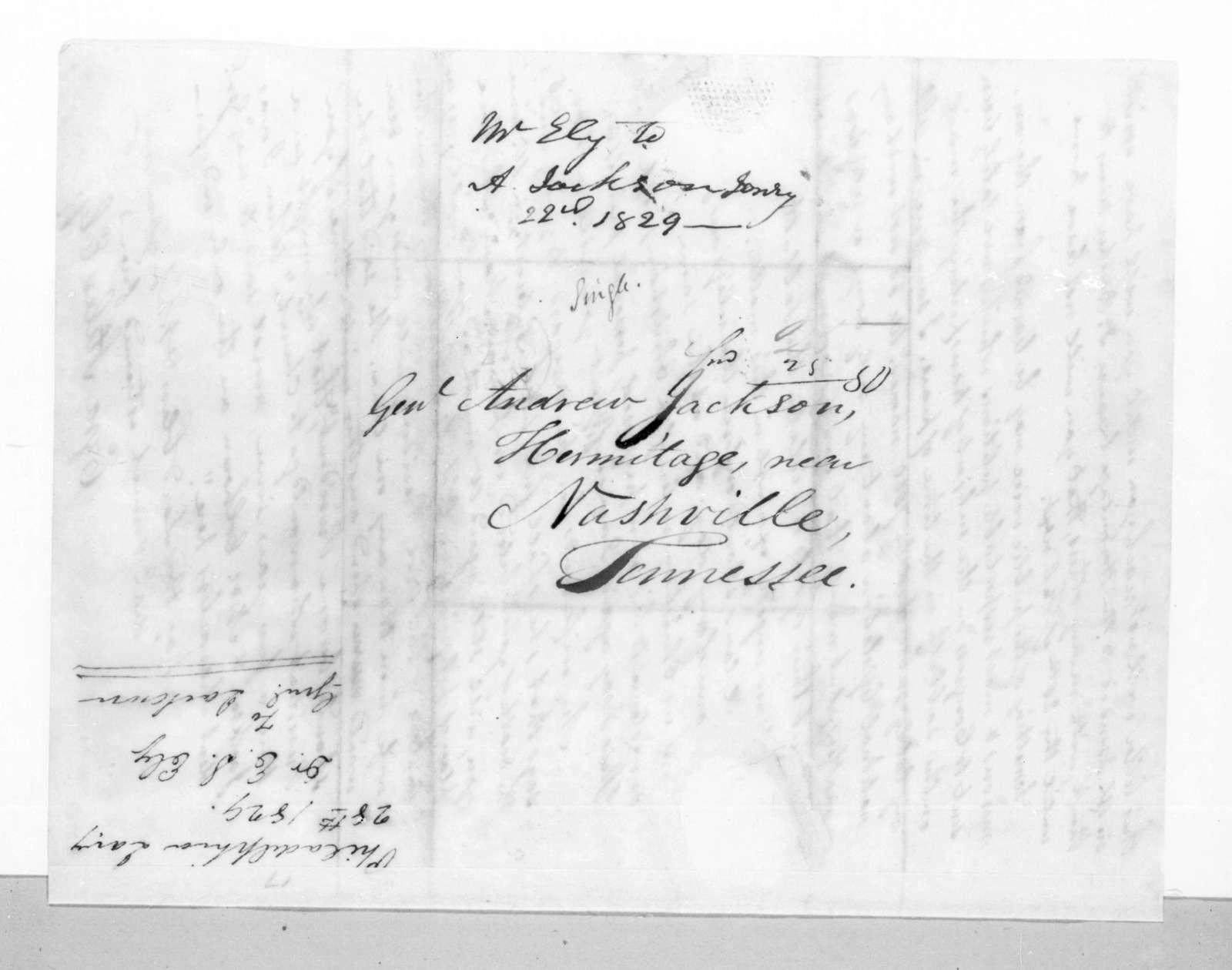 Ezra Stiles Ely to Andrew Jackson, January 28, 1829