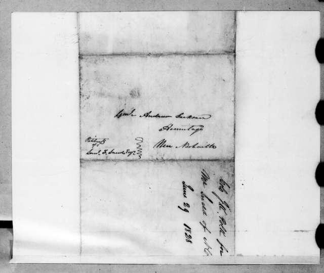 James Knox Polk to Andrew Jackson, June 29, 1829