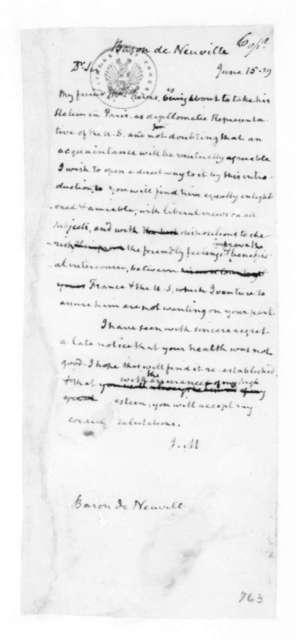 James Madison to Hyde de Neuville, June 15, 1829.