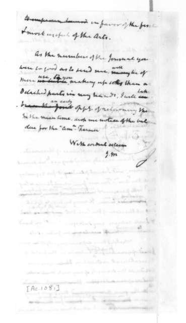 James Madison to J. L. Skinner, April 14, 1829.
