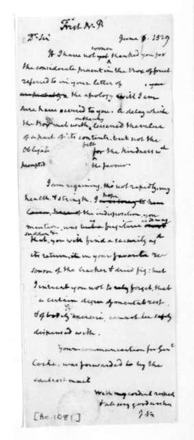 James Madison to Nicholas P. Trist, June 6, 1829.
