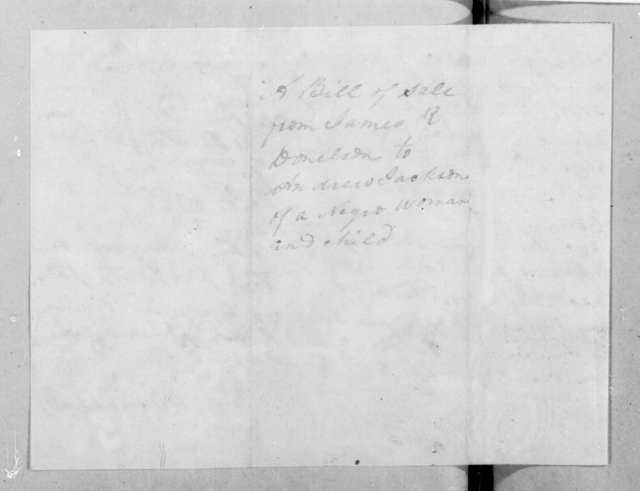 James Rucker Donelson to Andrew Jackson, January 2, 1829