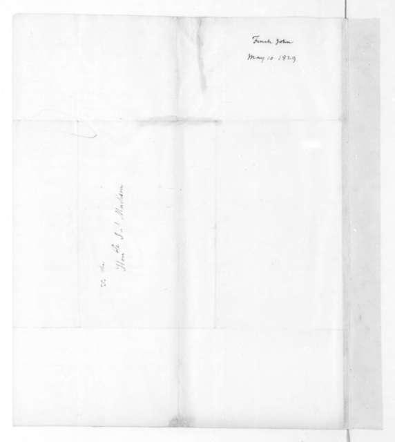John Finch to James Madison, May 10, 1829.