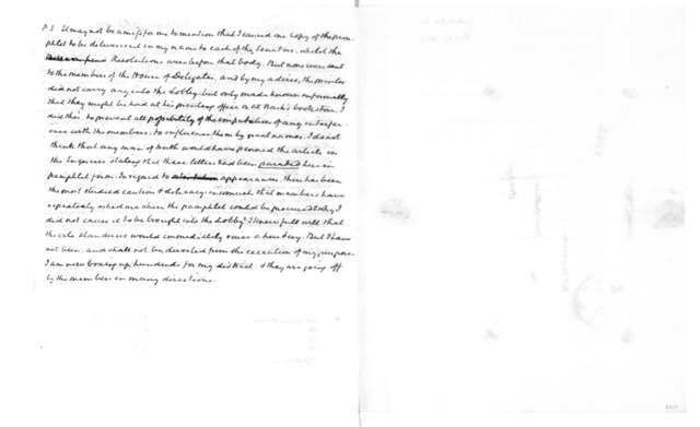 Joseph C. Cabell to James Madison, February 27, 1829.
