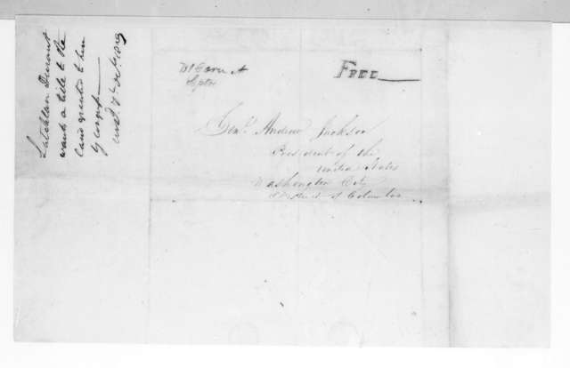 Latchlan Durant to Andrew Jackson, September 13, 1829