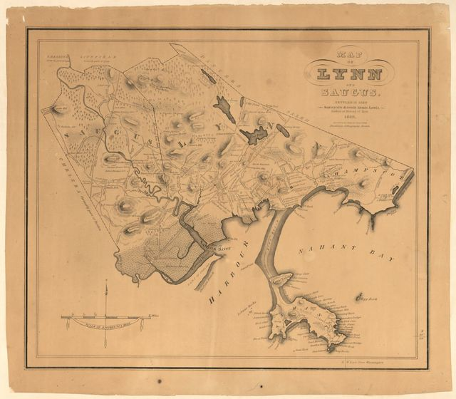 Map of Lynn and Saugus : settled in 1629 /