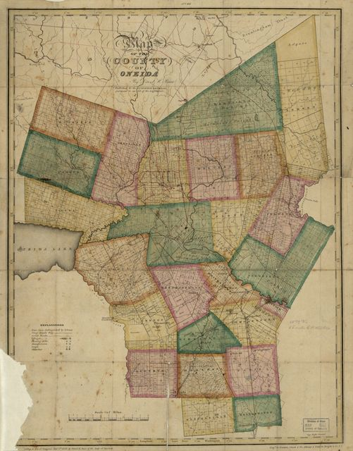 Map of the county of Oneida /